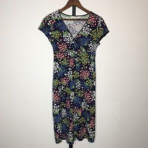 Boden Classic Casual Jersey Dress Size 2 Floral